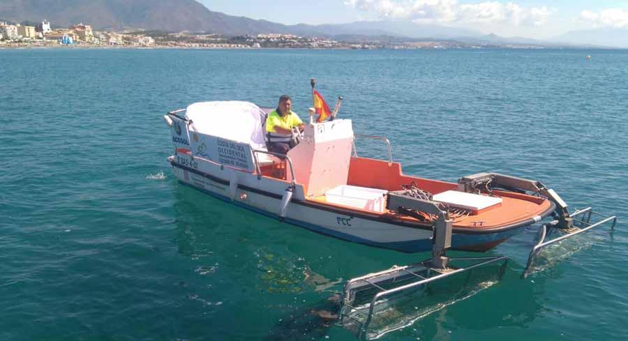 Mancomunidad Mancomunidad Los barcos de limpieza litoral de la Mancomunidad y Acosol han recogido más de dos mil kilos de residuos