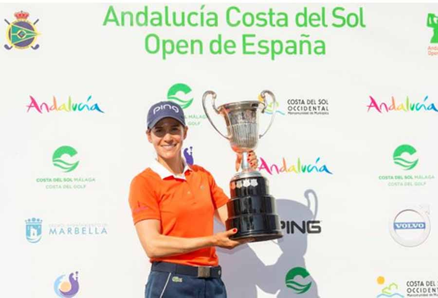 Mancomunidad Mancomunidad Azahara Muñoz incrementa su leyenda tras ganar por segunda vez consecutiva el  Andalucía Costa del Sol Open de España