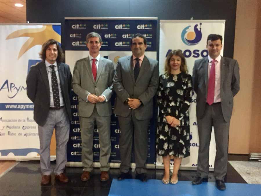 Mancomunidad Mancomunidad Acosol invita a CIT Marbella y a Apymespa a la campaña de participación de las Pymes locales en la contratación pública de la entidad