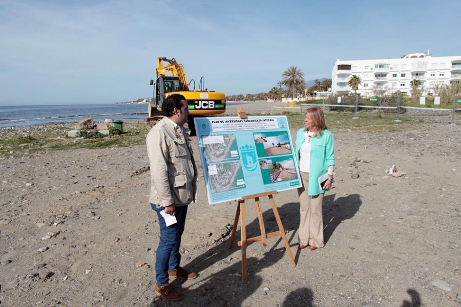 Mancomunidad Mancomunidad Arrancan los trabajos para reubicar el colector entre Ventura del Mar y el río Guadaiza, conectando el último tramo de la senda litoral entre Marbella y San Pedro