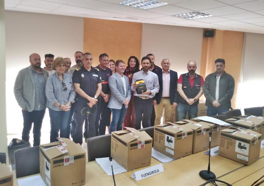 Mancomunidad Mancomunidad La Mancomunidad entrega 14 equipos desfibriladores para instalar en 7 localidades que participaron en el Programa de Cardioprotección