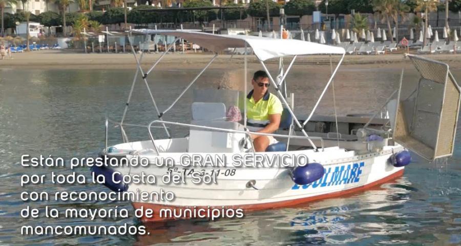 Mancomunidad Mancomunidad Acosol realiza un vídeo promocional sobre el trabajo de limpieza de aguas que realiza la flota de 13 barcos durante la temporada de verano