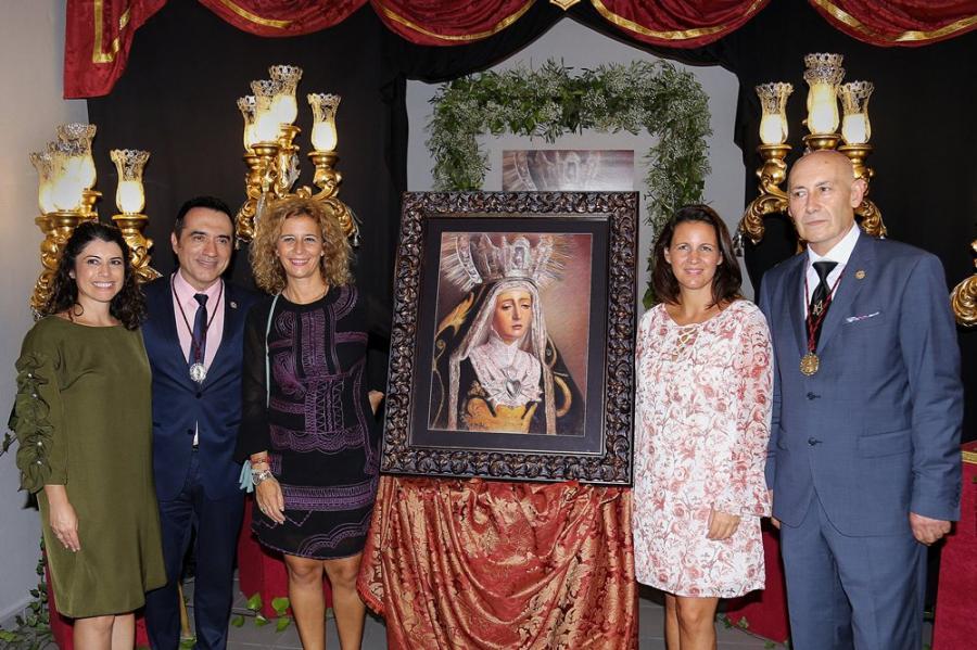 Actualidad Actualidad Éxito del pintor Antonio Montiel con su cartel de la Patrona de Nerja