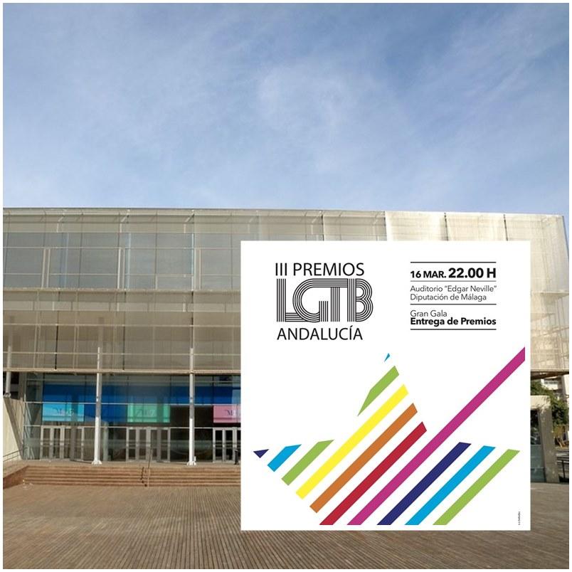 """Malaga Malaga Los III Premios LGTB Andalucía 2019 se celebrarán en el Auditorio """"Edgar Neville"""" de la Diputación de Málaga el 16 de marzo"""