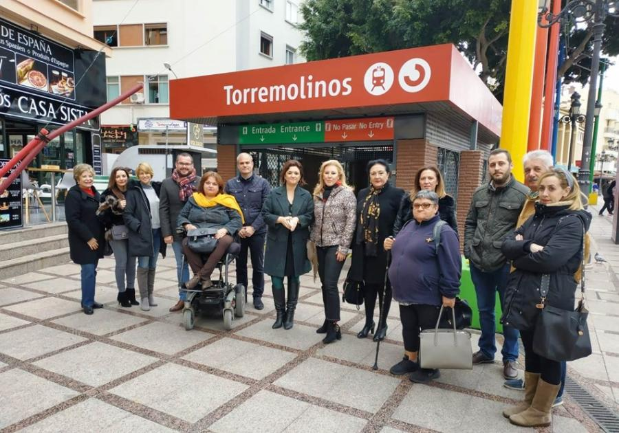 Torremolinos Torremolinos Carolina España y Margarita del Cid (PP) tachan de despropósito que la remodelación de la estación de Renfe de La Nogalera lleve nueve meses paralizada