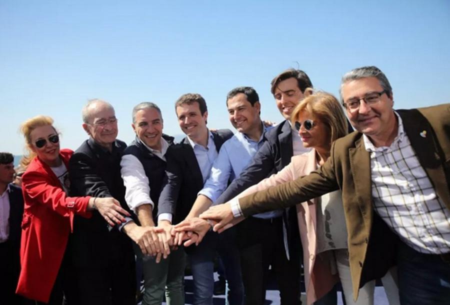 """Malaga Malaga Casado plantea en Málaga el 28-A como un referéndum: """"O Sánchez con Torra y Podemos, o el PP rescatando a España de la ruina y el independentismo"""""""
