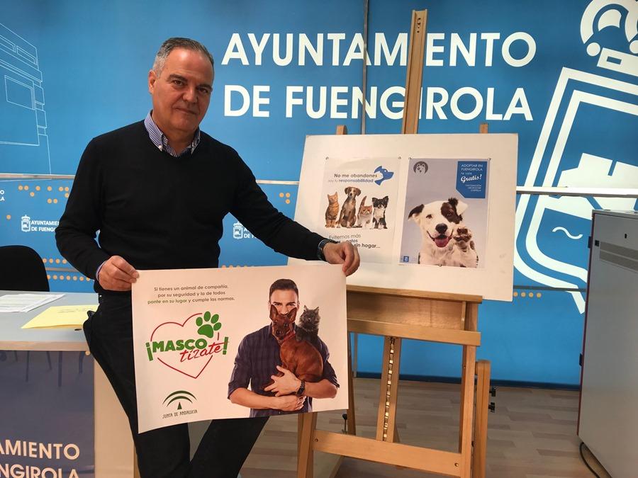"""Fuengirola Fuengirola El Ayuntamiento de Fuengirola apoya la campaña de sensibilización de animales de compañía """"Mascotízate"""""""