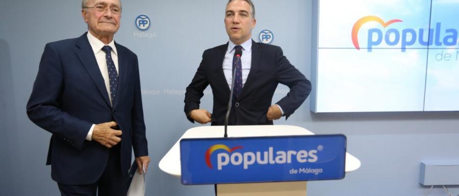 """Malaga Malaga El PP presenta una lista """"ganadora"""" para la capital junto """"al mejor alcalde de la historia"""""""