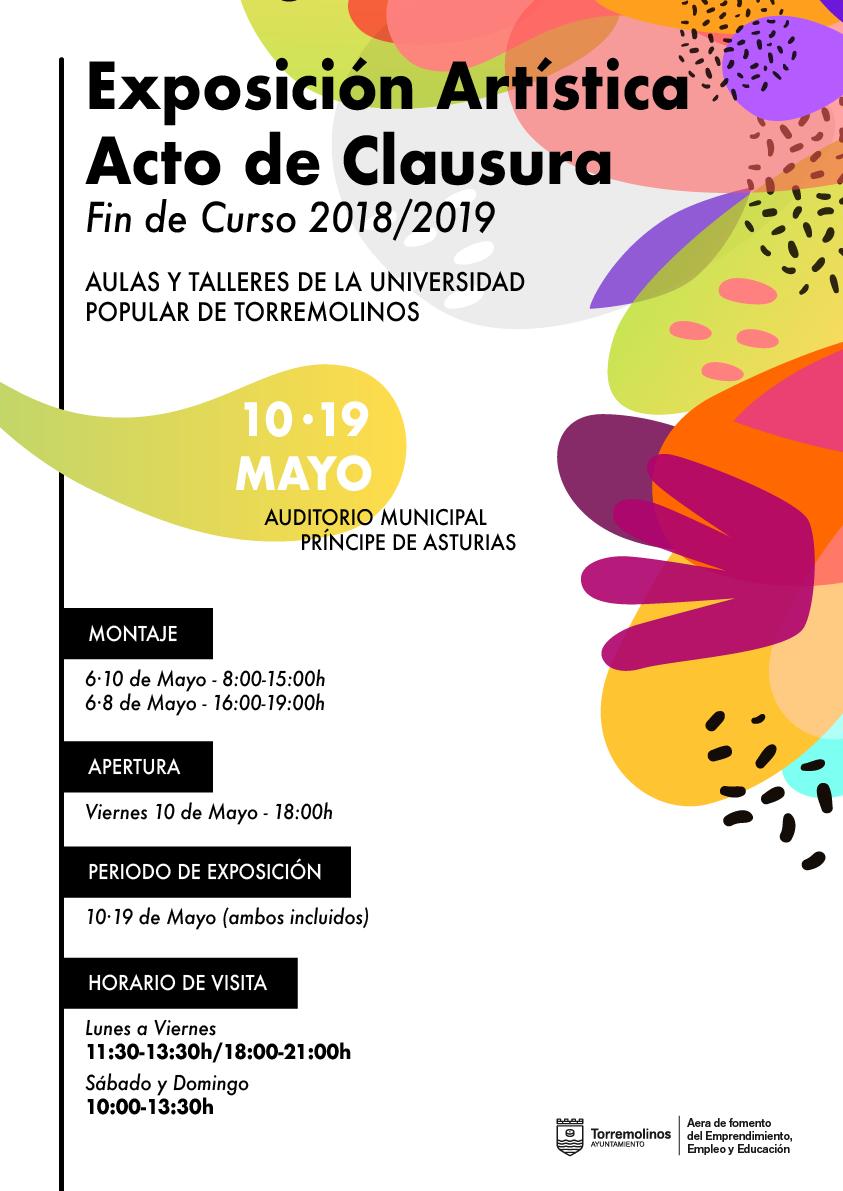 Torremolinos Torremolinos El Auditorio Municipal acoge la exposición artística de clausura de los talleres de la Universidad Popular de Torremolinos