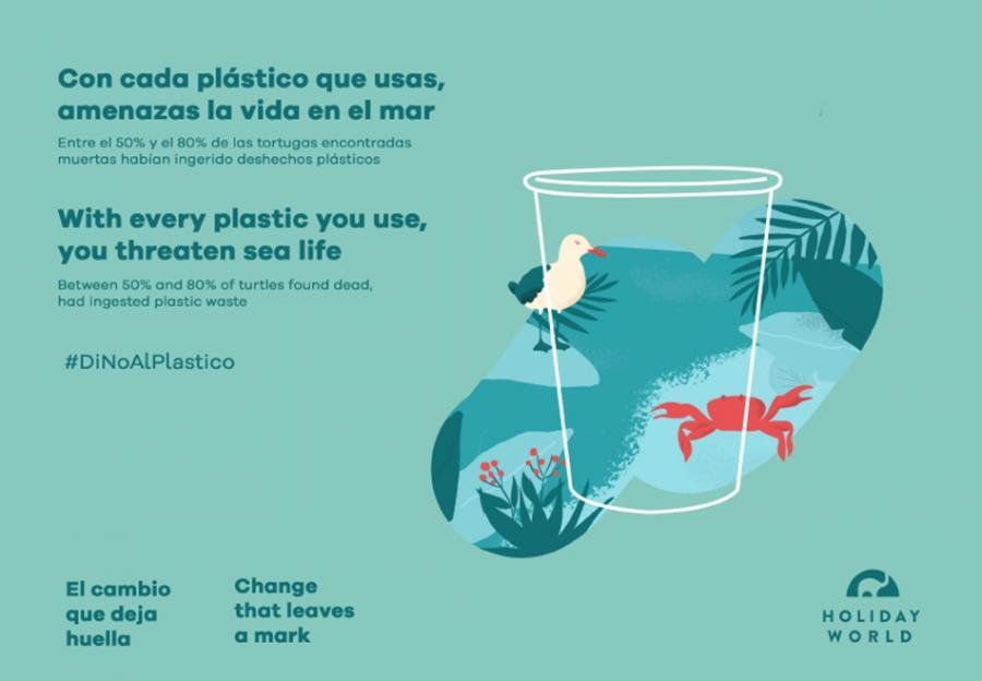 Benalmadena Benalmadena El resort hotelero Holiday World pone en marcha la campaña 'El cambio que deja huella', con la que espera reducir un 70% el uso de plástico en sus instalaciones