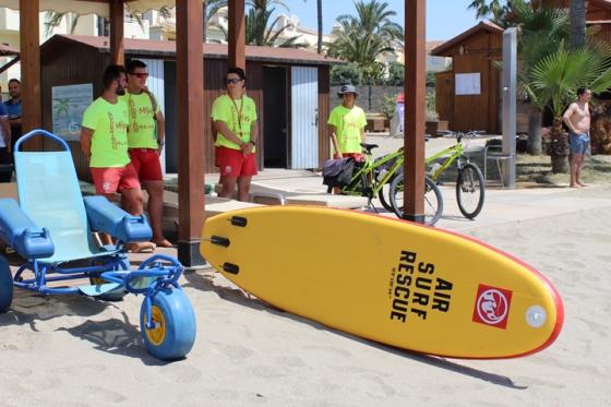 Mijas Mijas Las playas de Mijas contarán con socorristas de lunes a domingo hasta el 30 de septiembre