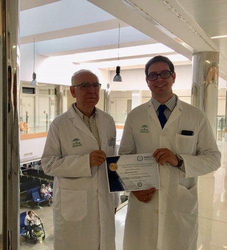 Malaga Malaga Un especialista del Hospital Clínico, premio a la mejor tesis doctoral en Angiología y Cirugía Vascular de 2019