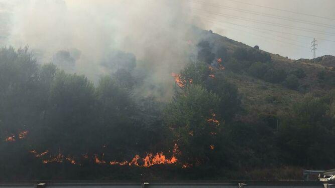 Benalmadena Benalmadena Controlado el incendio en el paraje El Higuerón de Benalmádena detectado ayer por la tarde
