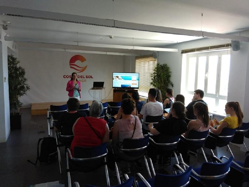 Malaga Malaga La Costa del Sol potencia las presentaciones a estudiantes para promocionar el segmento idiomático y la oferta del destino