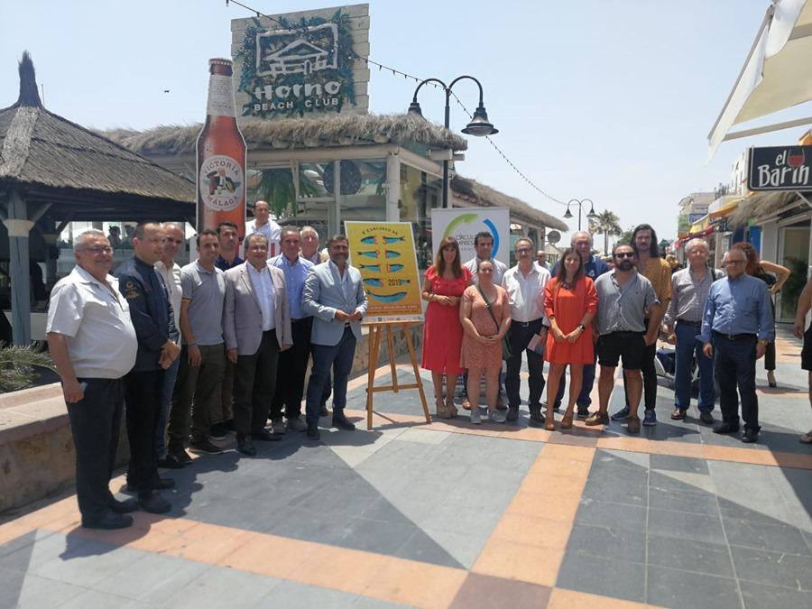 Torremolinos Torremolinos El CET presenta el cartel del V Concurso de Espetos de la Costa Del Sol en el Horno Beach