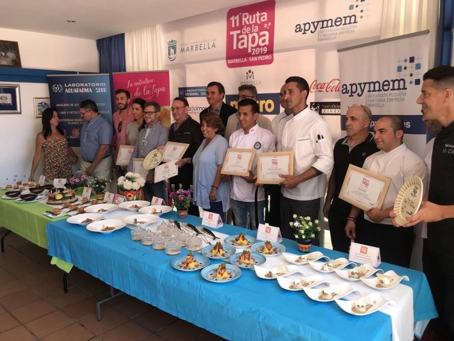 Marbella Marbella La Ribera y Savor consiguen los primeros premios de la XI Ruta de la Tapa en las categorías Popular y 5 Estrellas, respectivamente en Marbella