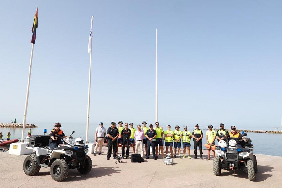 Marbella Marbella Más de 100 efectivos integran el dispositivo de emergencia en las playas de Marbella durante la temporada estival