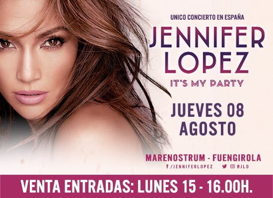 Fuengirola Fuengirola Fuengirola trae a Jennifer López a España el 8 de agosto