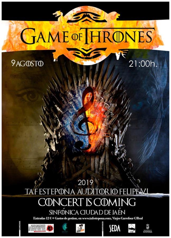 Estepona Estepona El Auditorio Felipe VI de Estepona acoge este viernes un concierto dedicado a la mítica serie 'Juego de Tronos'