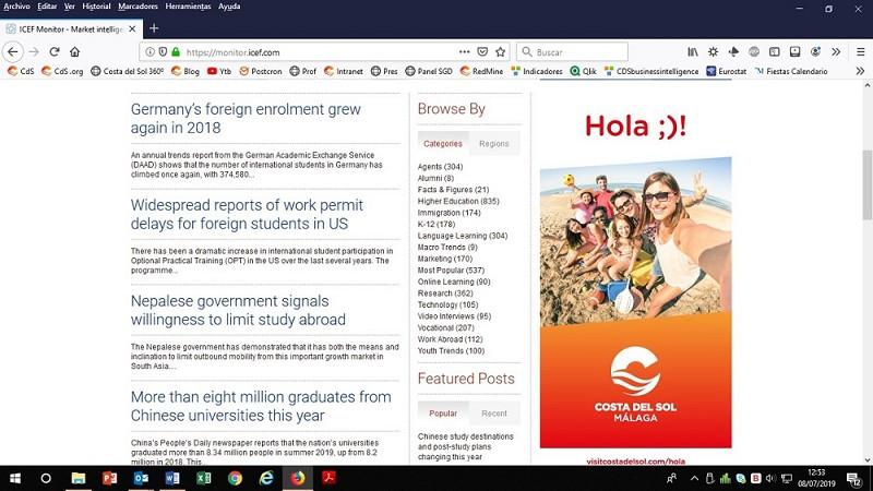 Malaga Malaga La Costa del Sol refuerza su posicionamiento en turismo idiomático a nivel internacional