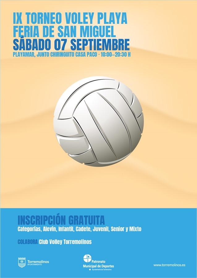 Torremolinos Torremolinos Torremolinos acoge este sábado el IX Torneo de Voley Playa Feria de San Miguel