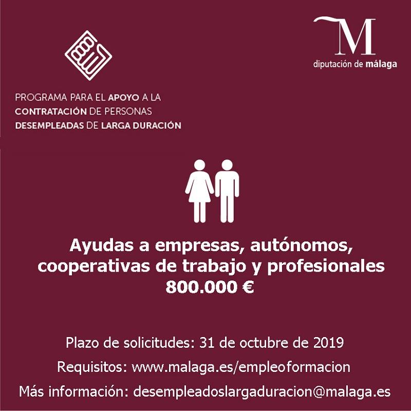 Malaga Malaga La Diputación anima a empresas y cooperativas a participar en el plan para personas desempleadas de larga duración