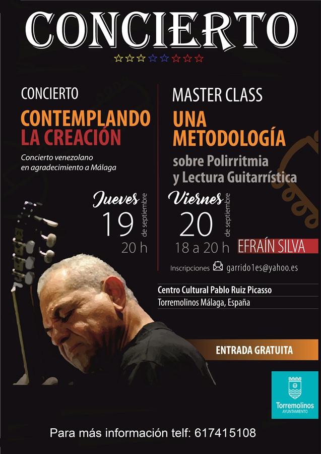 Torremolinos Torremolinos El concertista y compositor venezolano Efraín Silva ofrece en Torremolinos un recital y una Master Class de guitarra