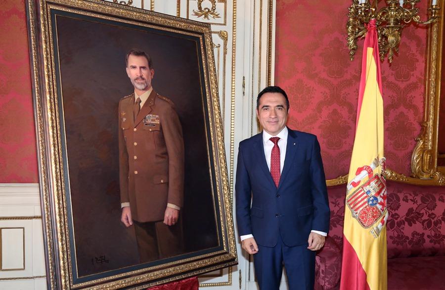 Actualidad Actualidad Presentación del retrato de Felipe VI por el pintor Antonio Montiel para el Ejército de Tierra