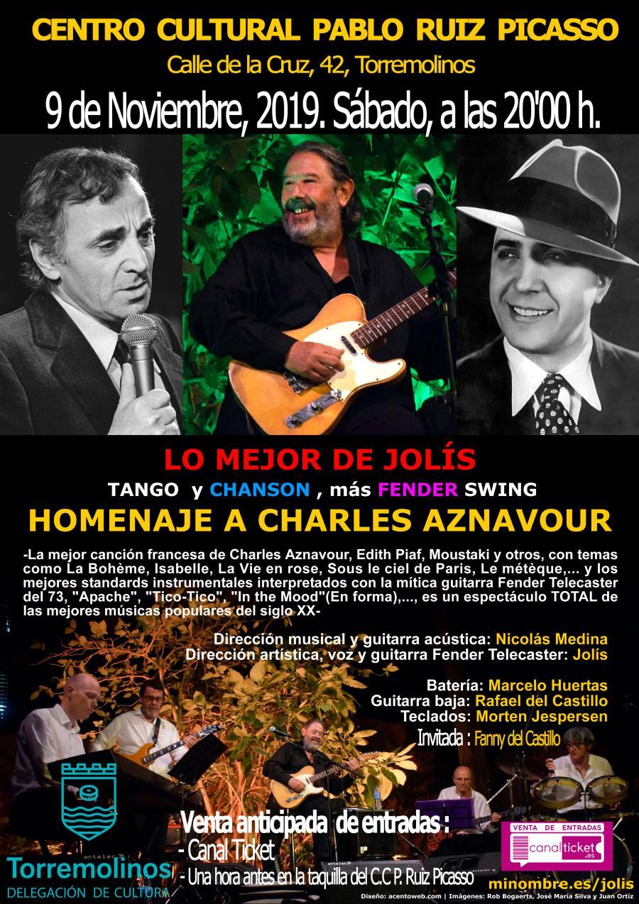 Torremolinos Torremolinos Jolís rinde homenaje al tango y la canción francesa este sábado en Torremolinos