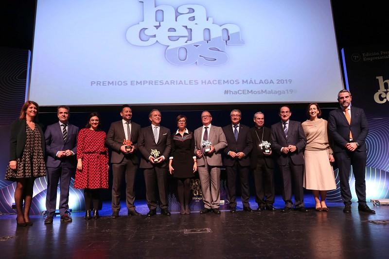 Malaga Malaga Salado invita a los empresarios a forjar una nueva alianza para luchar contra la despoblación en la VII edición de los premios Hacemos Málaga