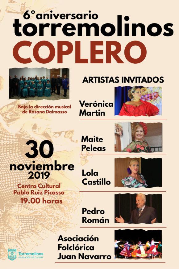 Torremolinos Torremolinos Torremolinos Coplero celebra su sexto aniversario en el Centro Cultural Pablo Ruiz Picasso
