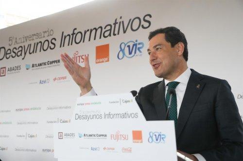 """Actualidad Actualidad Moreno ve a Andalucía en el """"camino correcto"""" un año después del 2D: """"Tiene estabilidad y funciona"""""""