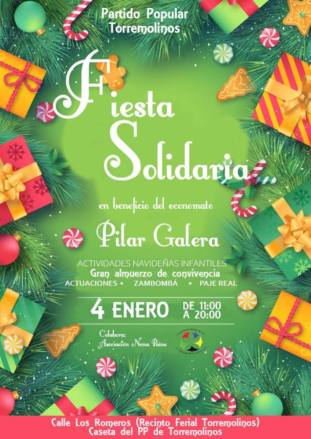 Torremolinos Torremolinos El Partido Popular celebra su III Fiesta Solidaria Navideña en beneficio del economato Pilar Galera el 4 de enero