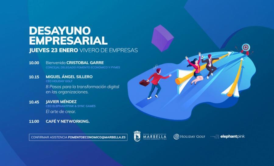 Marbella Marbella El Vivero de Empresas acogerá este jueves un encuentro con los CEO de Holiday Golf y Elephantpink & Sync Games