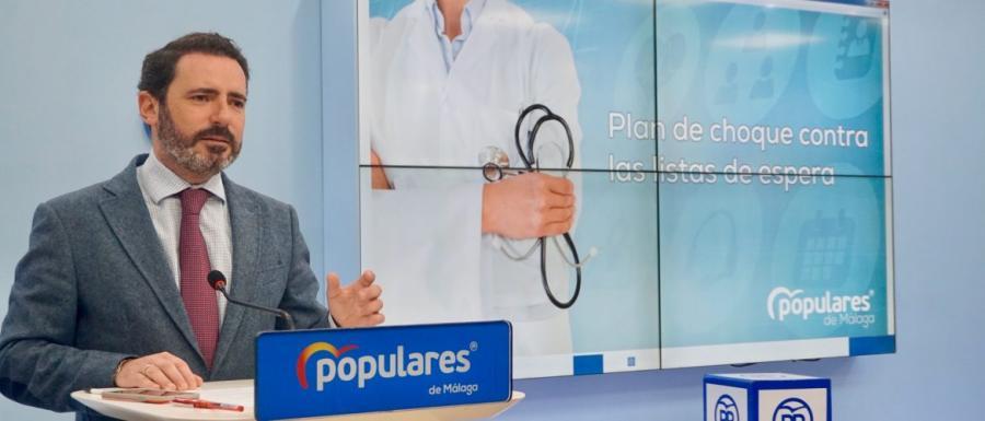 Malaga Malaga El PP valora que la lista de espera baje en Málaga casi un 50% gracias al plan de choque
