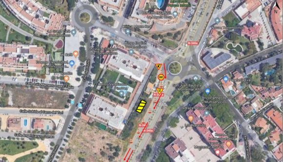 Torremolinos Torremolinos Obras de adecuación de infraestructuras estrecharán los carriles en las inmediaciones de la rotonda de Montemar Alto en Torremolinos el próximo lunes