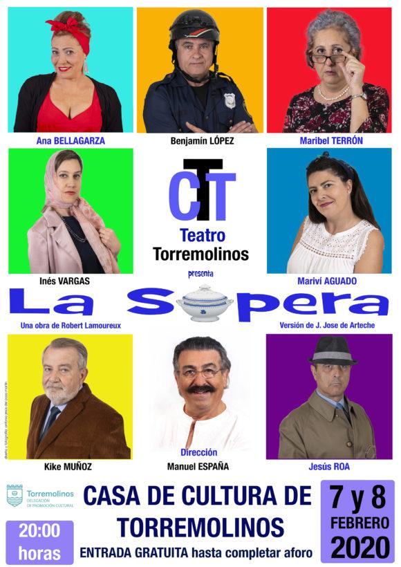 Torremolinos Torremolinos Doble sesión con el humor de la compañía de Compañía de Teatro de Torremolinos y su obra 'La Sopera'