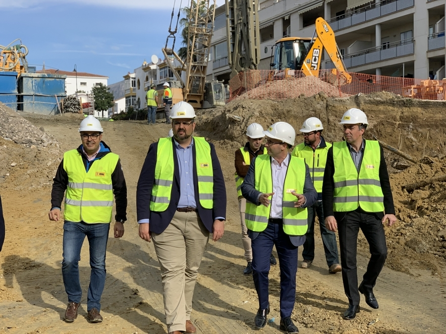 Mijas Mijas A buen ritmo la ejecución del parking de La Candelaria de Las Lagunas de Mijas, que estará dotado con más de 500 plazas