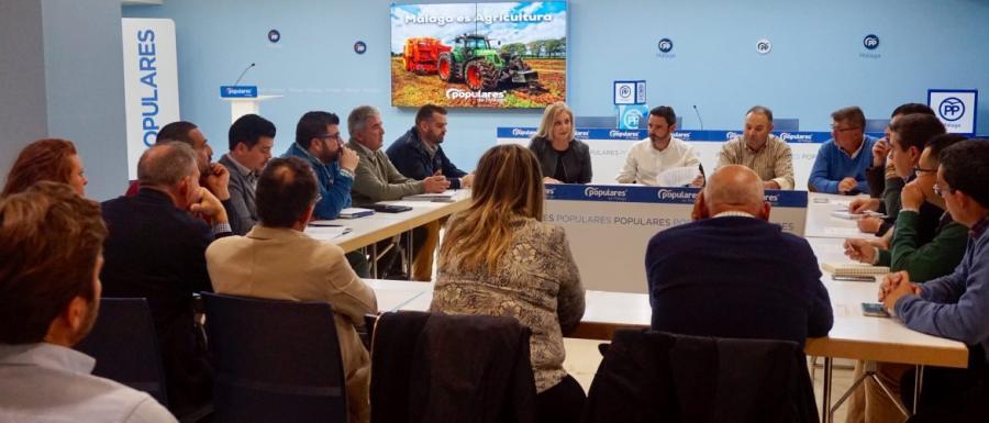Malaga Malaga El PP de Málaga constituye un foro de trabajo permanente por la agricultura y la ganadería
