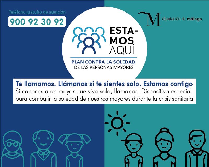 Ronda Ronda La Diputación habilita un dispositivo para llamar y atender telefónicamente a los mayores que viven solos en la provincia a través del teléfono 900 92 30 92