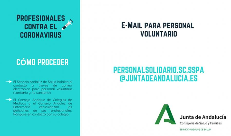 Actualidad Actualidad Bolsa de voluntariado de profesionales sanitarios retirados ante futuras necesidades asistenciales