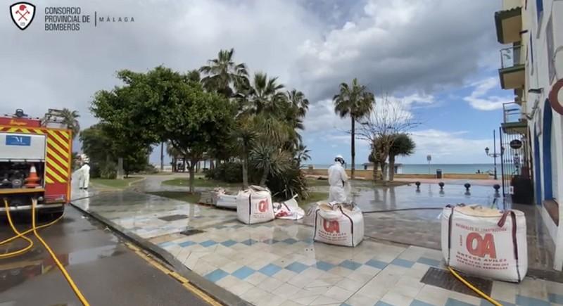 Malaga Malaga La Diputación continúa con la desinfección de municipios, residencias y centros sanitarios de toda la provincia