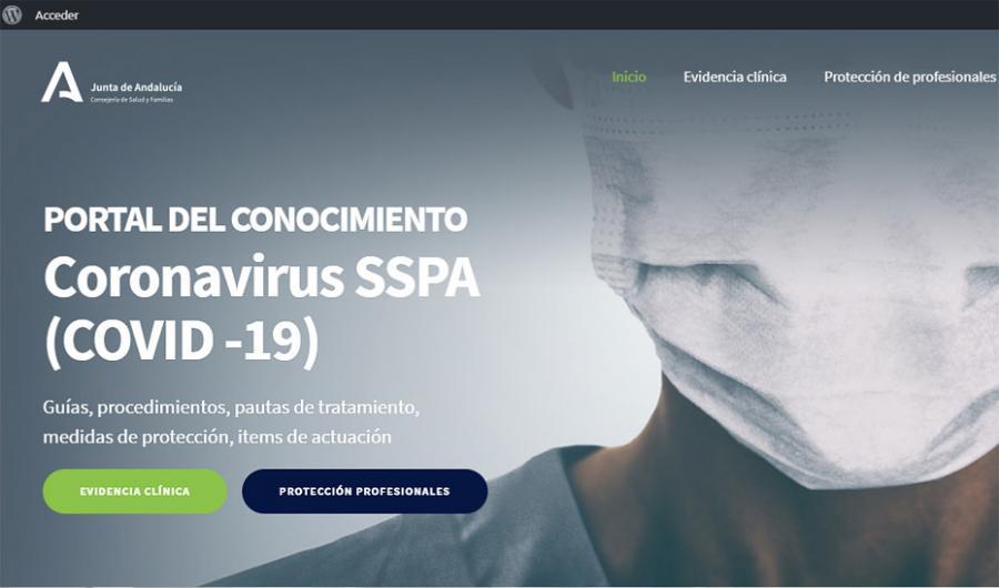 Actualidad Actualidad Andalucía pone en marcha un portal con el conocimiento científico sobre Covid-19