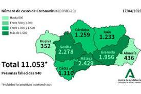 Actualidad Actualidad Andalucía suma 28 muertes por coronavirus con un ligero repunte diario de contagios hasta los 11.053 casos confirmados