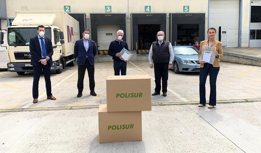 Actualidad Actualidad El SAS recibe la primera remesa de 20.000 pantallas protectoras donadas por la firma onubense Polisur