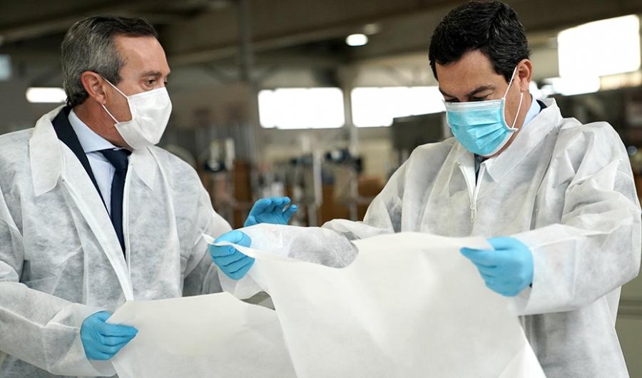 Actualidad Actualidad Moreno apuesta por el autoabastecimiento ante el coronavirus a través de empresas con producción en Andalucía