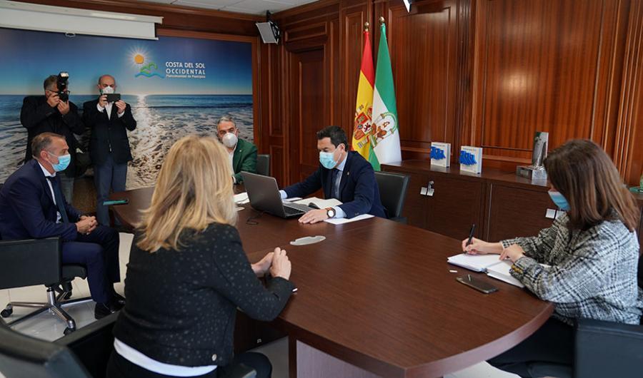 """Actualidad Actualidad Moreno: """"El Gobierno andaluz está volcado en conseguir que las playas sean un referente de turismo seguro"""""""
