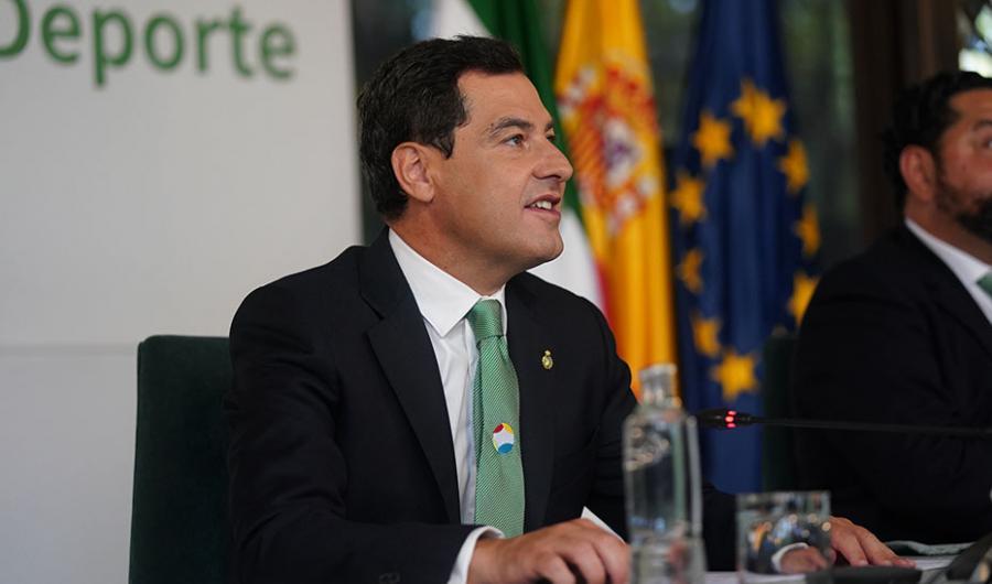 Actualidad Actualidad Moreno resalta las características excepcionales y el potencial de Andalucía para ser la Región Europea del Deporte en 2021