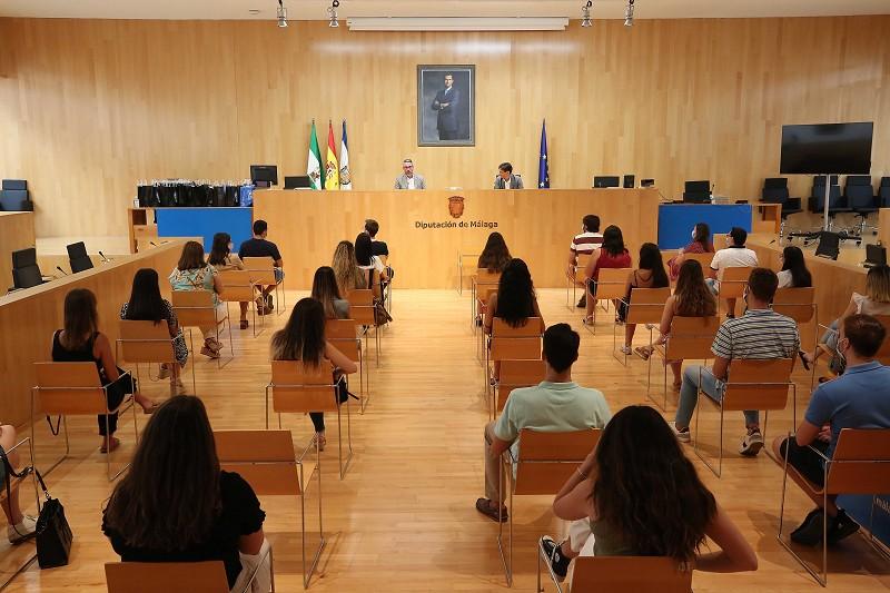 Malaga Malaga La Diputación de Málaga recibe a 63 alumnos en prácticas extracurriculares de la Universidad de Málaga durante 2020
