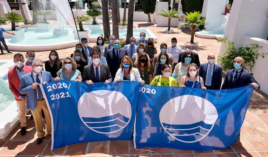 Turismo Hoteles Marín señala el récord de banderas azules como otra muestra de la excelencia del destino Andalucía